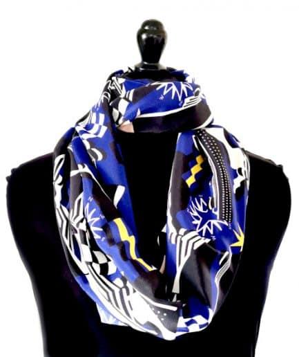 Echarpe ronde en soie les-petts-noeuds-de-lucie